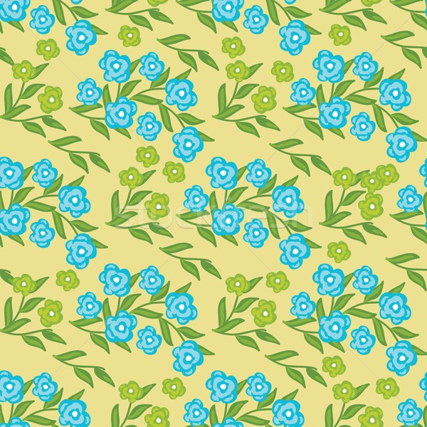 Floral seamless pattern with pink and yellow flowers Stock photo © mcherevan