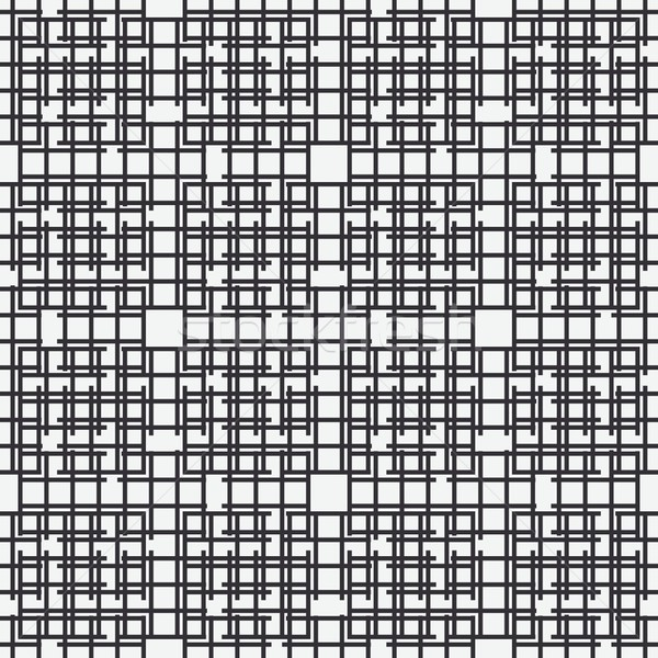 Abstract vector seamless black and white pattern with squares , dots design element. Stock photo © mcherevan
