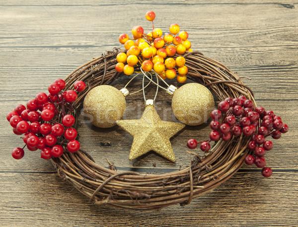 Foto d'archivio: Oro · Natale · star · legno