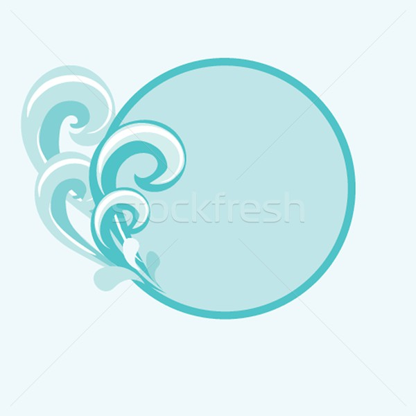 Vector Illustration of an Abstract Summer Background Stock photo © mcherevan