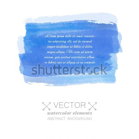 Watercolor vector banner with place for your text. Cold blue colors. Stock photo © mcherevan