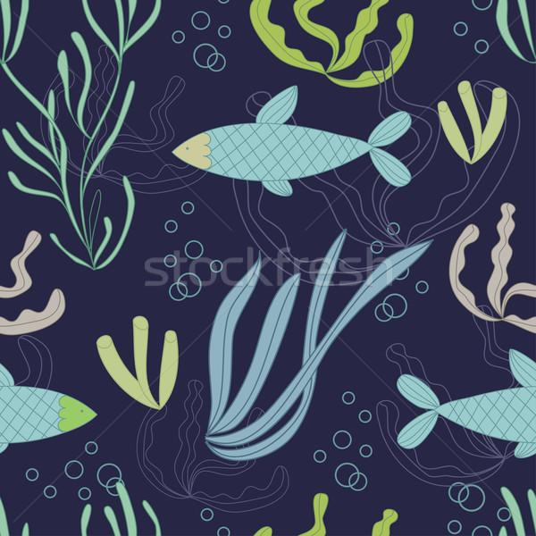 Water planten vis Stockfoto © mcherevan
