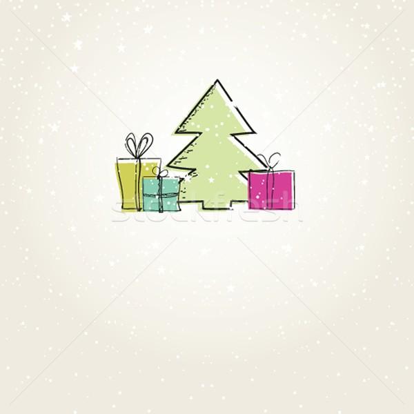 Foto stock: Férias · elementos · árvore · feliz · abstrato