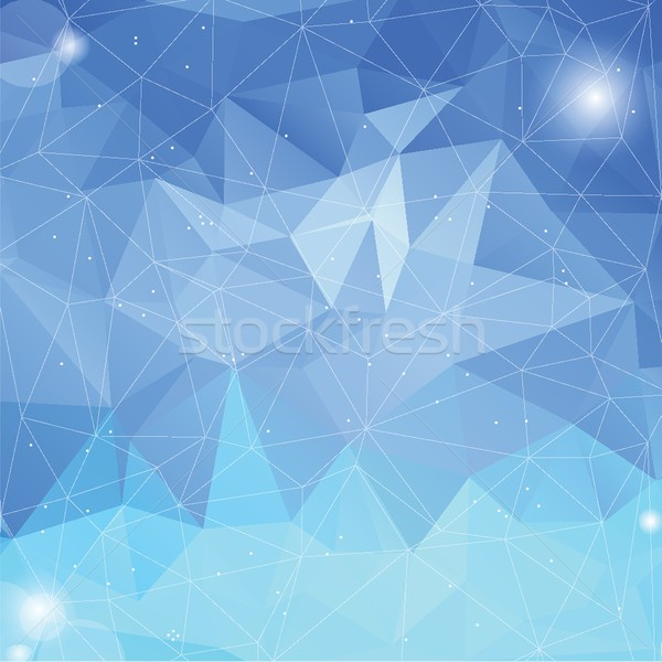 Colorful iceberg abstract geometric low poly style vector illustration graphic background Stock photo © mcherevan