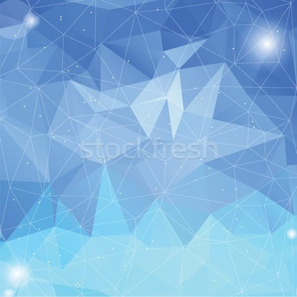 Colorato iceberg abstract geometrica basso stile Foto d'archivio © mcherevan