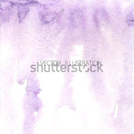 Ombre watercolor violet. Watercolor painted light violet background with white space for text.  Stock photo © mcherevan
