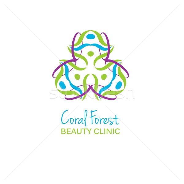 Egészség szépség stúdió logo színes virág Stock fotó © mcherevan