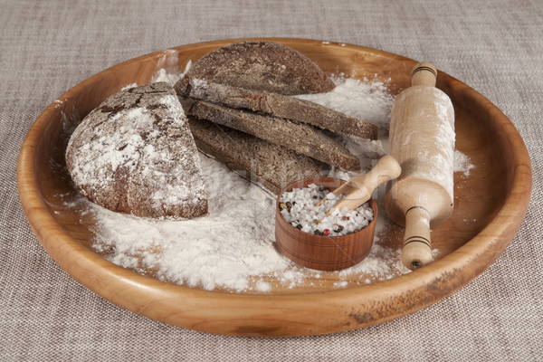 Fresche fatto in casa pane jar sale Foto d'archivio © mcherevan