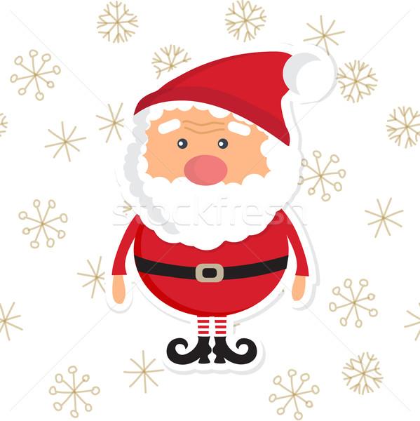 серебро Рождества пейзаж Дед Мороз дизайна Сток-фото © mcherevan