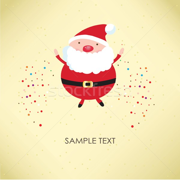 Christmas card with Santa Klaus Stock photo © mcherevan
