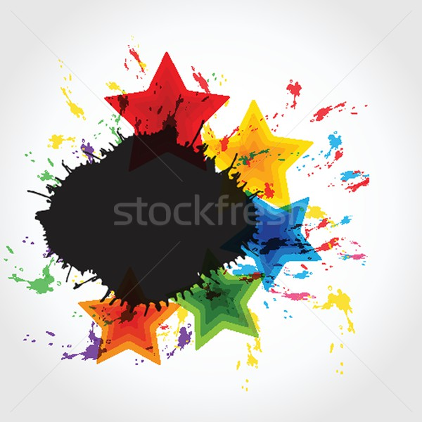 Stars and spots. Vector format Stock photo © mcherevan