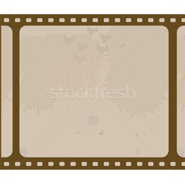 öreg filmszalag izolált fehér film háttér Stock fotó © mcherevan