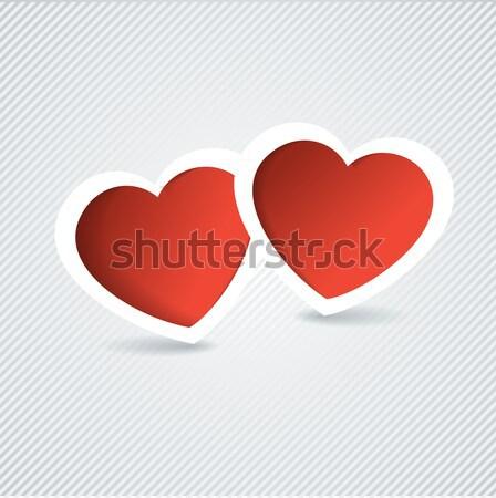 Vakantie kaart hart papier valentijnsdag kijken Stockfoto © mcherevan