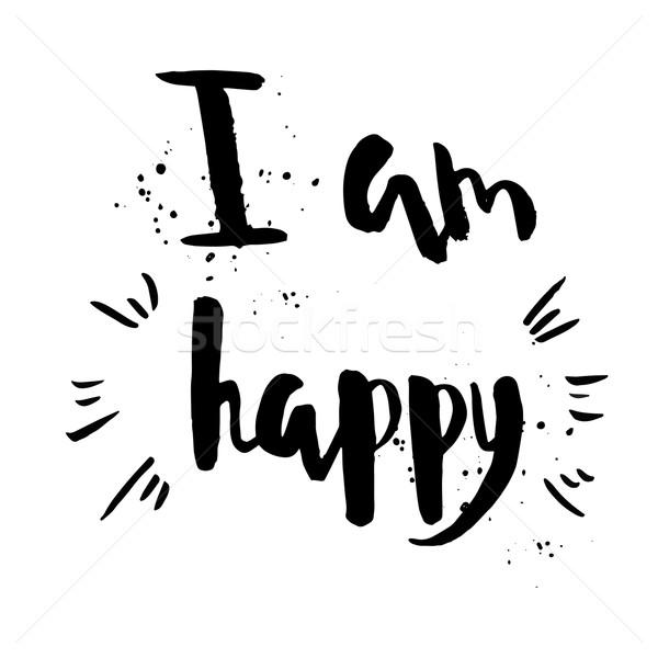 Délelőtt boldog kifejezés inspiráló motivációs idézet Stock fotó © mcherevan