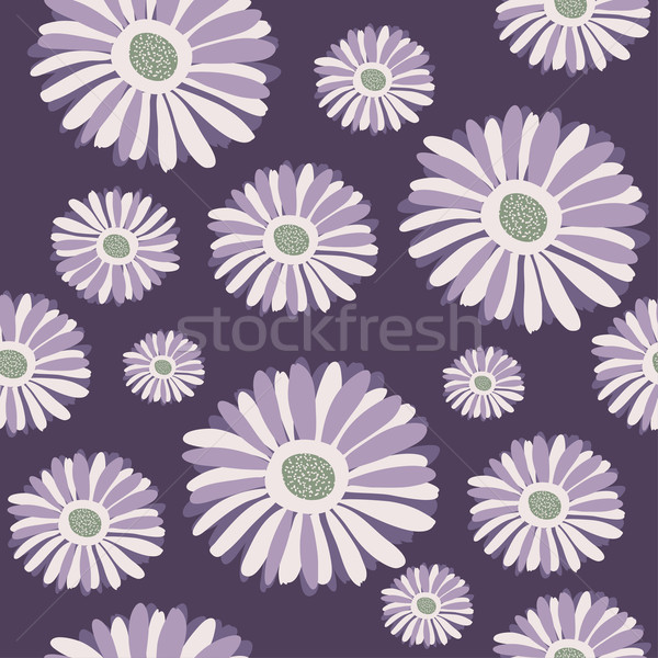 Seamless background with purple gerbera Stock photo © mcherevan