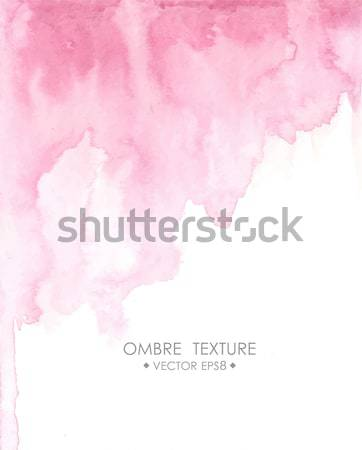 Ombre watercolor pink. Hand drawn ombre texture. Watercolor painted light blue background with white Stock photo © mcherevan