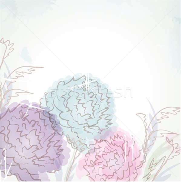 Model pastel renkli çiçekler dizayn yaprak Stok fotoğraf © mcherevan