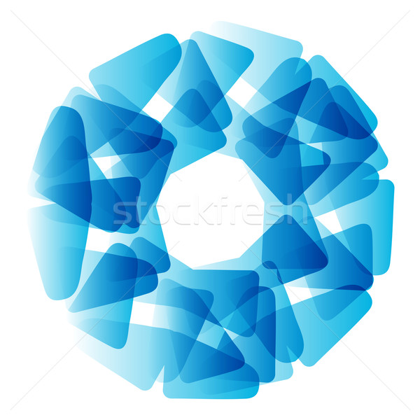 Vector abstract blue circle. Banner, flyer or Logo design template . Stock photo © mcherevan