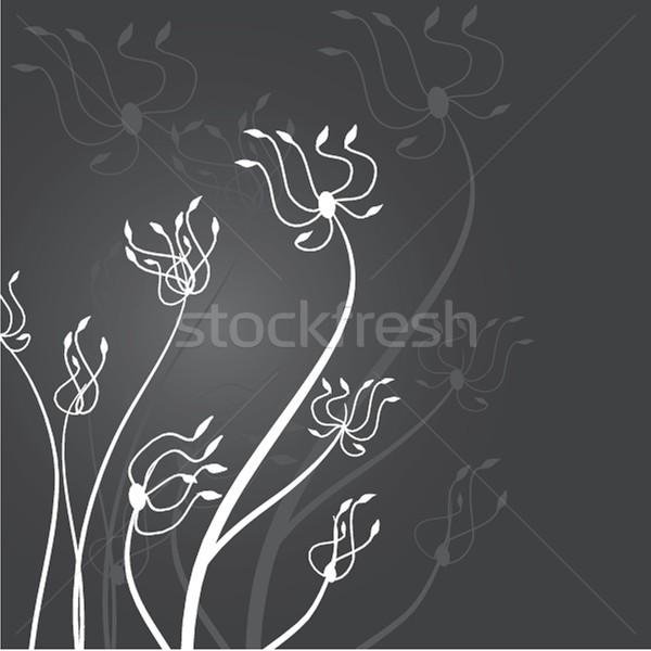 Klasszikus kártya kézzel rajzolt virágok üdvözlőlap papír Stock fotó © mcherevan