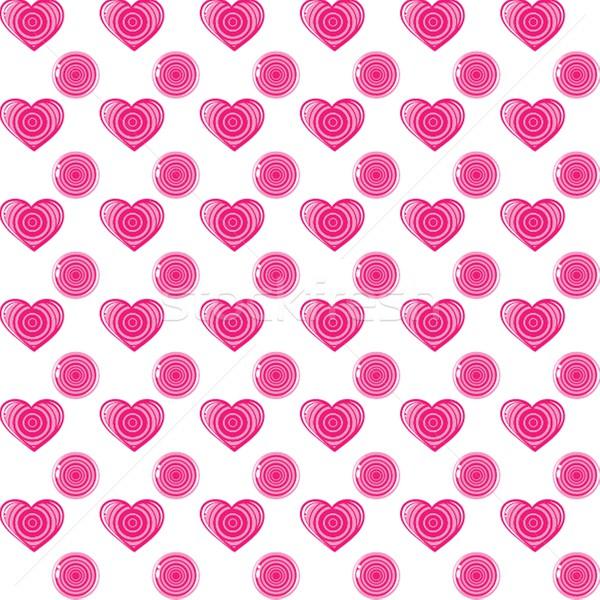 lollipops seamless pattern, valentine's day illustration. Stock photo © mcherevan