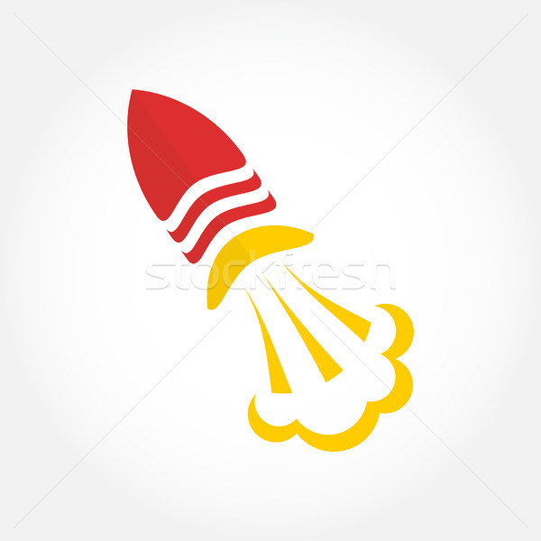 Rocket in space logo template. Stock photo © mcherevan