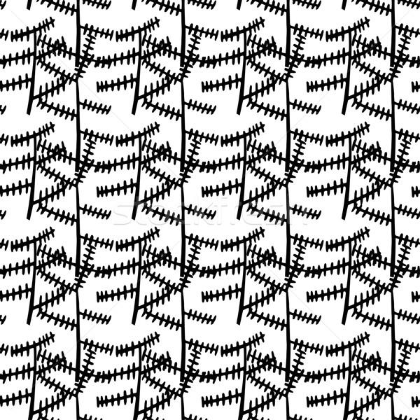 Abstract zwart wit industriële vector naadloos Stockfoto © mcherevan
