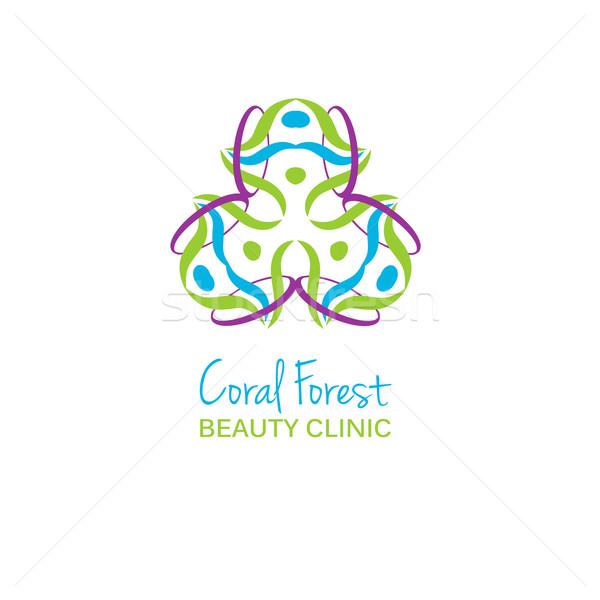 Health or beauty studio logo. Colorful flower sign. Can be used for logotype for health, beauty or s Stock photo © mcherevan