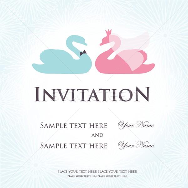 Invitación de la boda dos cute cisne aves novia Foto stock © mcherevan