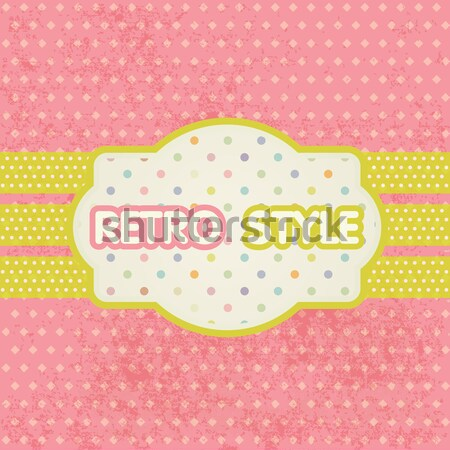Vintage pastel frame on polka dot background Stock photo © mcherevan