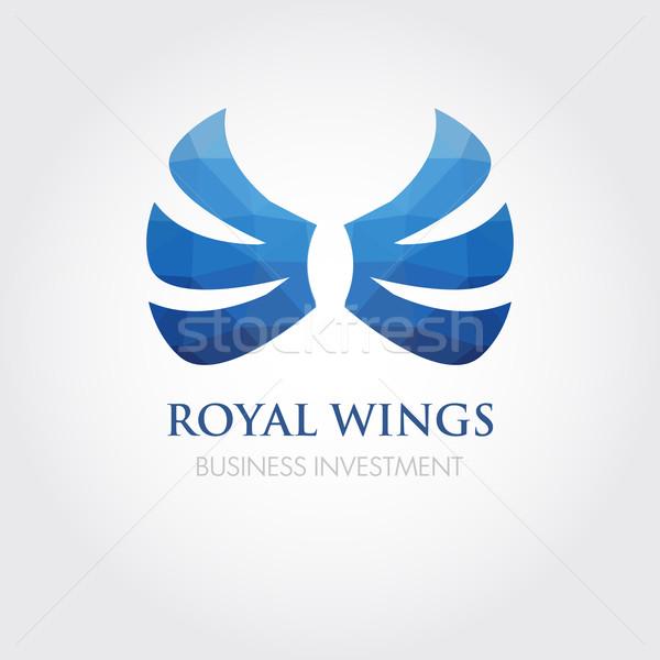 ストックフォト: ベクトル · 孤立した · 翼 · 美 · 珍しい
