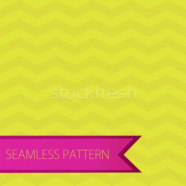 Senza soluzione di continuità zig-zag pattern verde rosa vettore Foto d'archivio © mcherevan