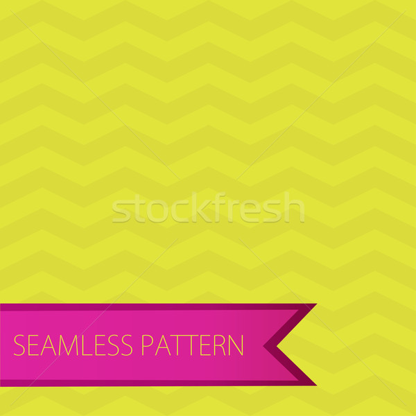 Zigzag modèle vert rose vecteur Photo stock © mcherevan