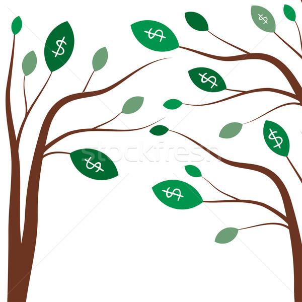 お金 木 ビジネス 白 ドル記号 緑の木 ストックフォト © mcherevan
