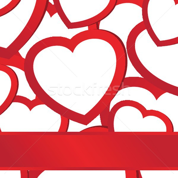 Holiday background with valentines hearts Stock photo © mcherevan