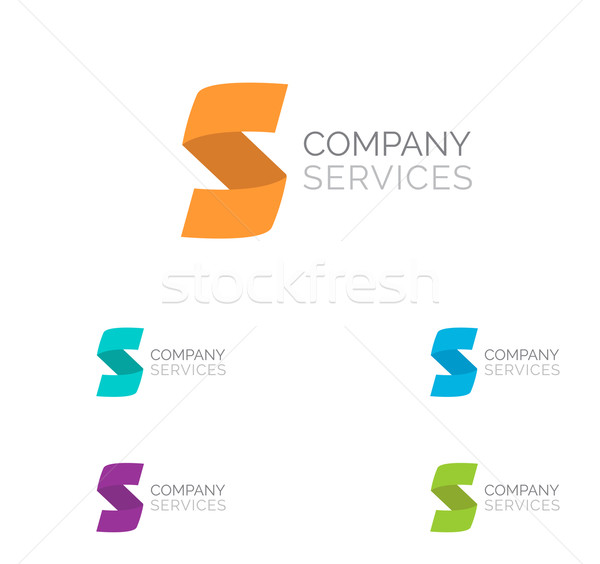 Letter S logo  design template elements in different  colors Stock photo © mcherevan
