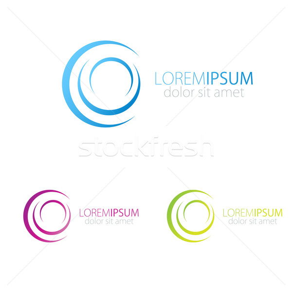 Blue, pink and green vector logotype for social, web, media . Stock photo © mcherevan