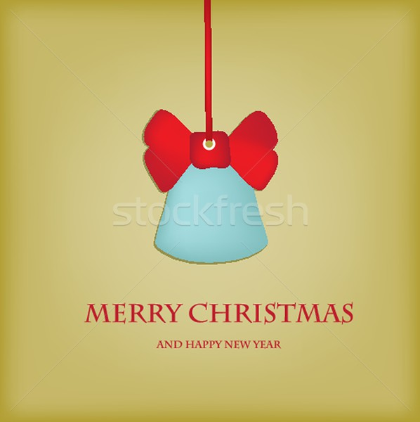 Holiday bells on snowflakes background Stock photo © mcherevan