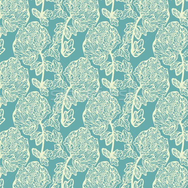 Seamless pattern with leaves. Good idea for textile, wrapping, wallpaper or cloth design. Leaf backg Stock photo © mcherevan