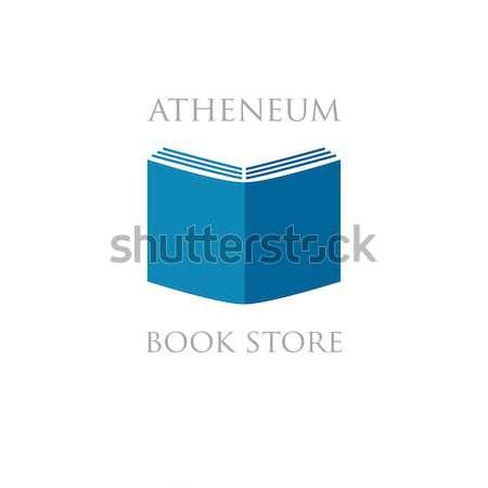 書店 ライブラリ ロゴ にログイン ビジネス 紙 ストックフォト © mcherevan