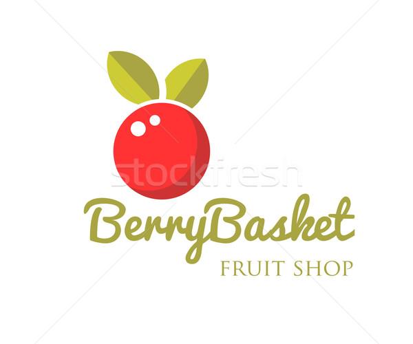 вектора современных ярко ягодные логотип красный Сток-фото © mcherevan