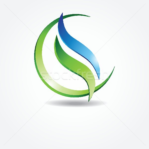 Green ecological banner Stock photo © mcherevan