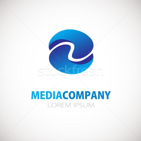 Abstract vierkante logo icon cijfer vector Stockfoto © mcherevan