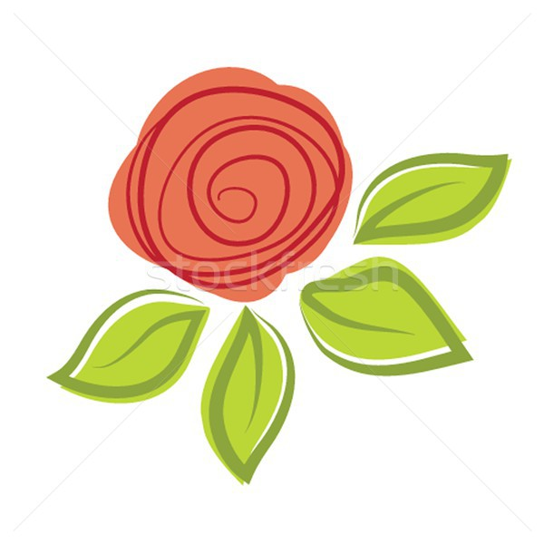 Abstract rose flower. Vector illustration Stock photo © mcherevan