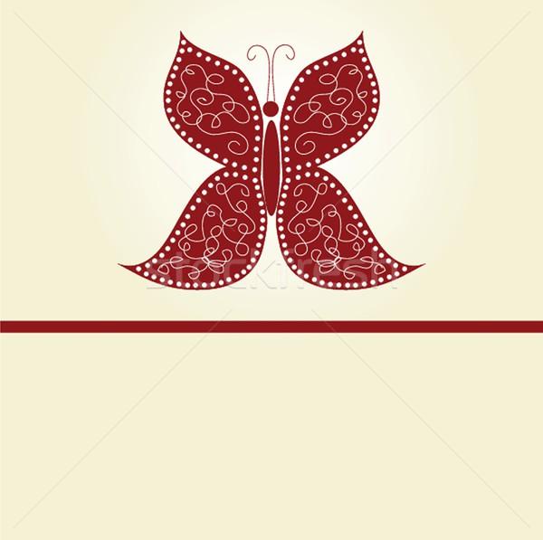 Various vector butterflies on  background Stock photo © mcherevan