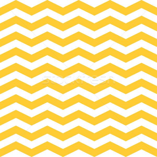Seamless  ZigZag Chevron Pattern. Yellow and white vector background. Stock photo © mcherevan