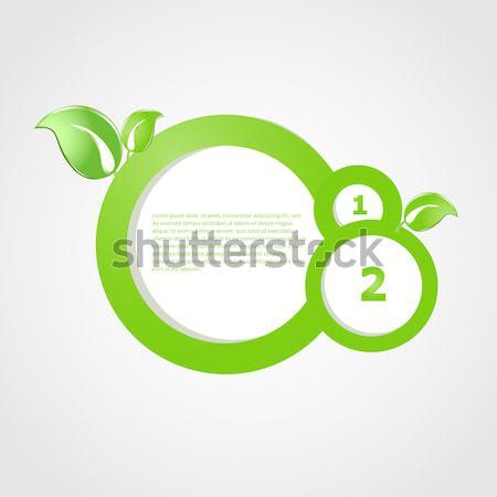 Verde ecologico banner foglie verdi business natura Foto d'archivio © mcherevan