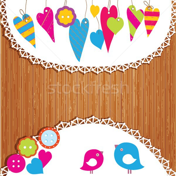 Colorful buntings, garlands and paper. Stock photo © mcherevan