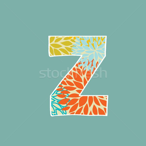 Grunge Vector Letter. Green Eco Style. Font Symbol Z. Stock photo © mcherevan