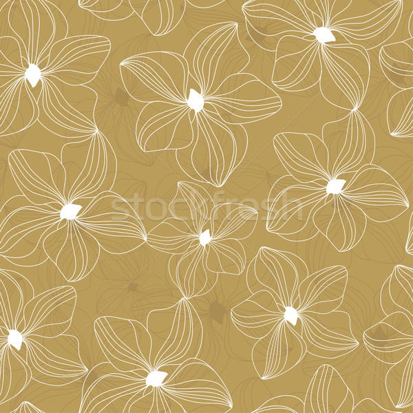 Floral seamless pattern with beautiful flowers, hand-drawing. Vector illustration. Stock photo © mcherevan
