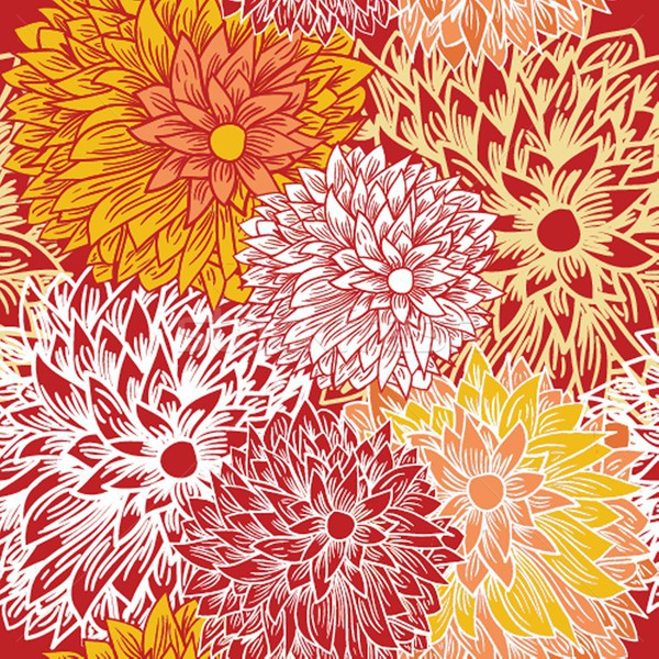 Floral seamless pattern in autumn colors Stock photo © mcherevan